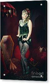 Female Circus Performer Acrylic Print by Amanda Elwell