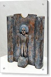 Female Figurine - Goddess Worship - Matrone - Matrones -matronen - Matrona - Diosa-nettersheim Eifel Acrylic Print by Urft Valley Art