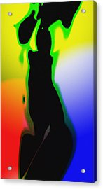Female In Color One Acrylic Print by Steve K