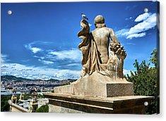 Acrylic Print featuring the photograph Female Sculpture At Montjuic by Eduardo Jose Accorinti