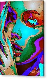 Female Tribute V Acrylic Print by Rafael Salazar