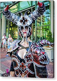Female Warrior Bull - Nola Acrylic Print