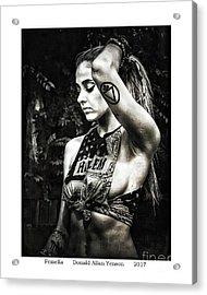 Femella Acrylic Print by Donald Yenson