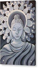 Feminine Buddha In A Peaceful Place Acrylic Print by Nicole Werth