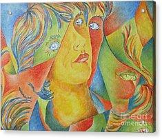 Femme Aux Trois Visages Acrylic Print
