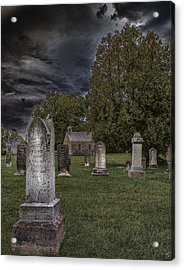 Femme Osage Cemetery Acrylic Print by Bill Tiepelman