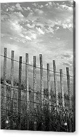 Fence At Jones Beach State Park. New York Acrylic Print
