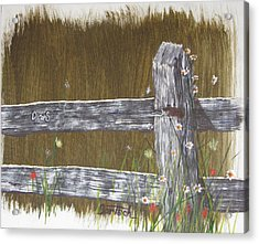 Fence D And S Acrylic Print