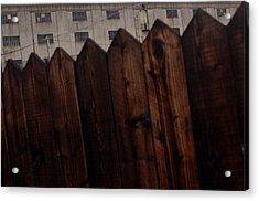 Fence Acrylic Print by Jez C Self