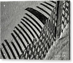 Fenced Acrylic Print by Elijah Knight