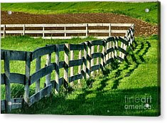 Fences And Shadows Acrylic Print