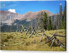 Fences Into The Rockies Acrylic Print