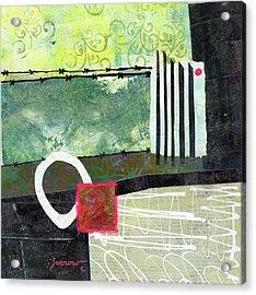 Fences Acrylic Print by Sue Furrow