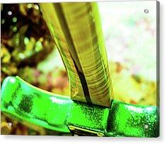 Custom Shop Stratocaster In Rare Green Sparkle Acrylic Print