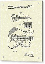 Fender Guitar 1966 Patent Art Acrylic Print