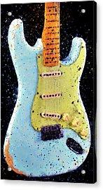 Fender Stratocaster - 02 Acrylic Print by Andrea Mazzocchetti
