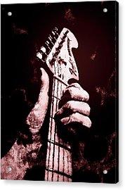 Fender Stratocaster - 06  Acrylic Print by Andrea Mazzocchetti