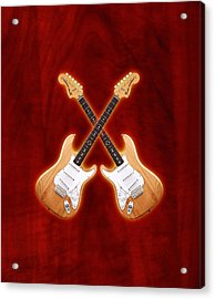 Fender Stratocaster Natural Color Acrylic Print by Doron Mafdoos