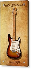 Fender Stratocaster Since 1954 Acrylic Print by WB Johnston