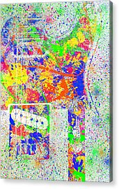 Fender Telecaster Colorsplash Acrylic Print