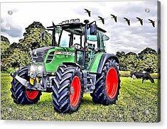 Fendt 312 Vario Tractor Acrylic Print