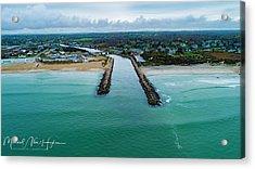 Fenway Beach Breakwater Acrylic Print