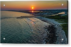 Fenway Beach Sunset Acrylic Print
