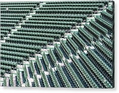 Fenway Park Green Bleachers Acrylic Print by Susan Candelario