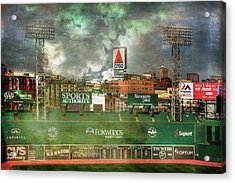 Fenway Park Green Monster And Citgo Sign Acrylic Print