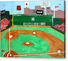 Fenway Park Acrylic Print by Jeff Caturano