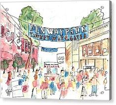 Fenway Park Acrylic Print by Matt Gaudian