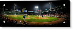 Fenway Park Panorma Acrylic Print by Jeff Ortakales