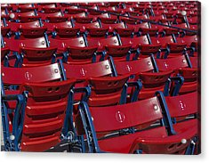 Fenway Park Red Bleachers Acrylic Print by Susan Candelario