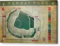 Fenway Park Seating Chart Acrylic Print