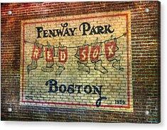 Fenway Park Sign - Boston Acrylic Print