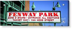 Fenway Park Sign Gate D Entrance Panorama Photo Acrylic Print by Paul Velgos