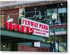 Fenway Park Tickets Acrylic Print by Susan Candelario