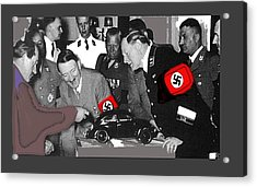 Ferdinand Porsche Showing The Prototype Of The Vw Beetle To Adolf Hitler 1935-2015 Acrylic Print