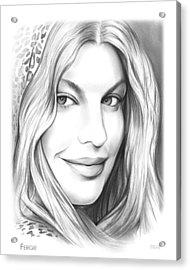 Fergie Acrylic Print