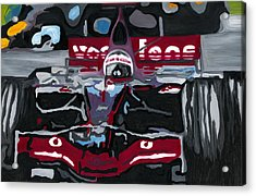 Fernando Alonso Wins Monaco For Mclaren 2008 Acrylic Print