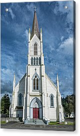 Acrylic Print featuring the photograph Ferndale Catholic Church by Greg Nyquist
