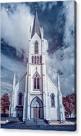 Acrylic Print featuring the photograph Ferndale Church In Infrared by Greg Nyquist
