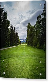 Acrylic Print featuring the photograph Fernie Tee Box by Darcy Michaelchuk