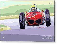 Ferrari 156 Dino 1962 Dutch Gp Acrylic Print by Yuriy  Shevchuk
