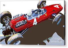 Ferrari 158 F1 1965 Dutch Gp Lorenzo Bondini Acrylic Print by Yuriy  Shevchuk