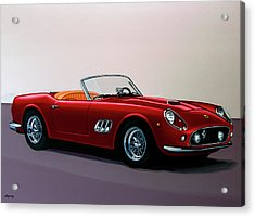 Ferrari 250 Gt California Spyder 1957 Painting Acrylic Print by Paul Meijering