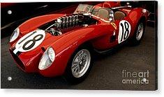 Ferrari 250 Tr Exposed Acrylic Print by Curt Johnson