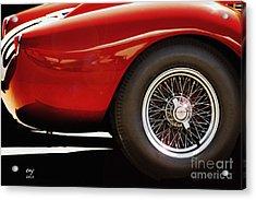 Ferrari 250 Tr Fender And  Wheel Acrylic Print by Curt Johnson