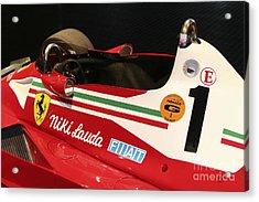 Ferrari 312 F-1 Cockpit Acrylic Print by Curt Johnson