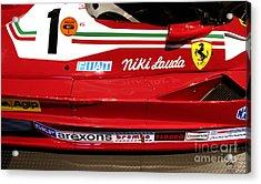Ferrari 312 T2 F-1 Acrylic Print by Curt Johnson